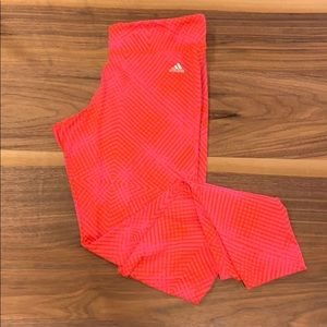 Hot pink Adidas Climalite Workout Leggings